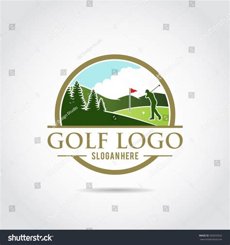 gulf logo vector golf logo template lanscape design vector stock vector