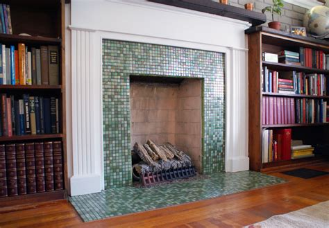 mojito mosaic fireplace wolf custom tile and design