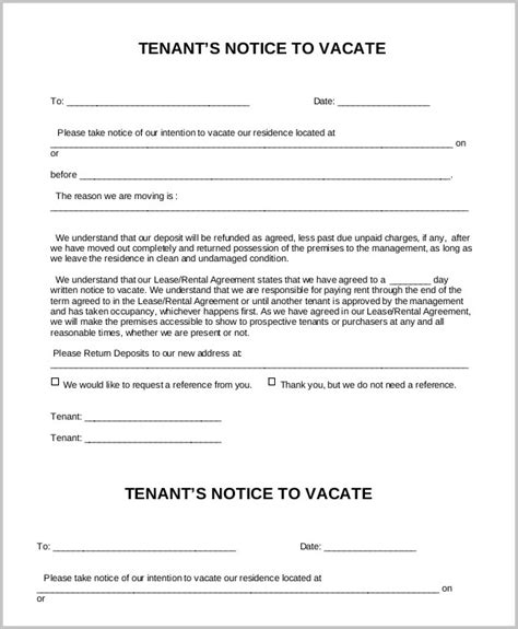Notice To Vacate Form Reiv Form Resume Exles 0nzoyjqlmk Nc Notice To Vacate Template