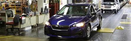 Where Is Subaru Manufactured American Built Subaru Impreza Rolls The Line In