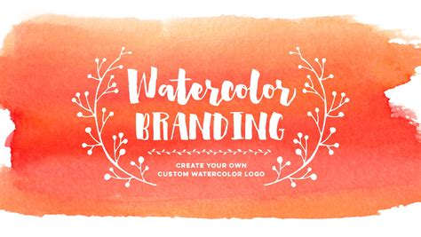 Make Your Own Watercolor Paper - create your own custom watercolor logo