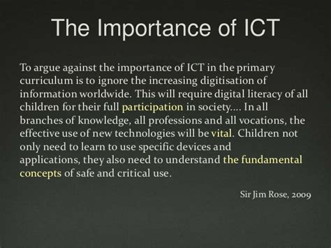 research papers on use of ict in education essay about ict in education