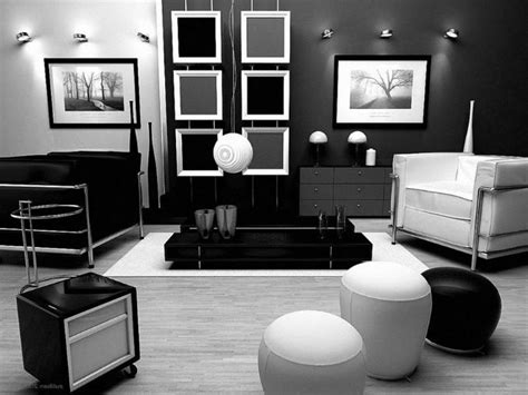 Modern Decor Ideas For Living Room by Trendy White Studio Apartment Interior Ideas With Black