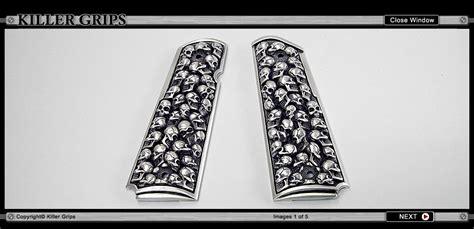 Handgrip Siken 5 Sai 20 Kg custom pewter 1911 grips