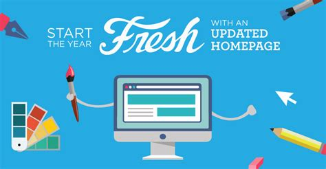 Start the year fresh with an updated homepage creative