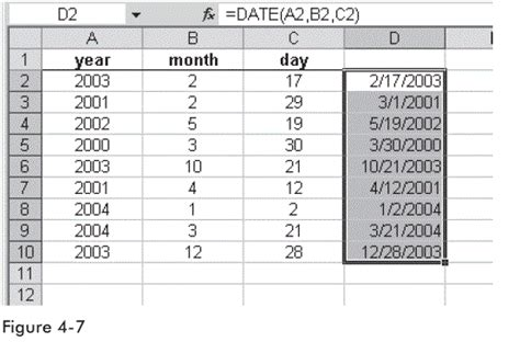 S Day Function Use The Date Function To Combine Columns With Date Parts