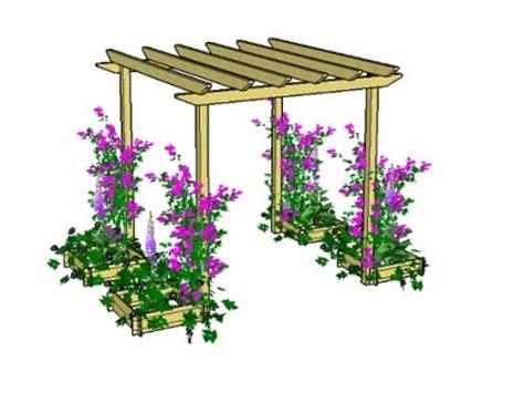 Pergola Planter by Pdf Plans Plant Pergola Plans Diy Playhouse