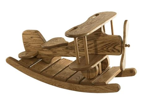 Pet Doors Wooden Airplane Rocker From Dutchcrafters Amish Furniture