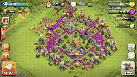 base for town hall 7 base review town hall level 7 youtube