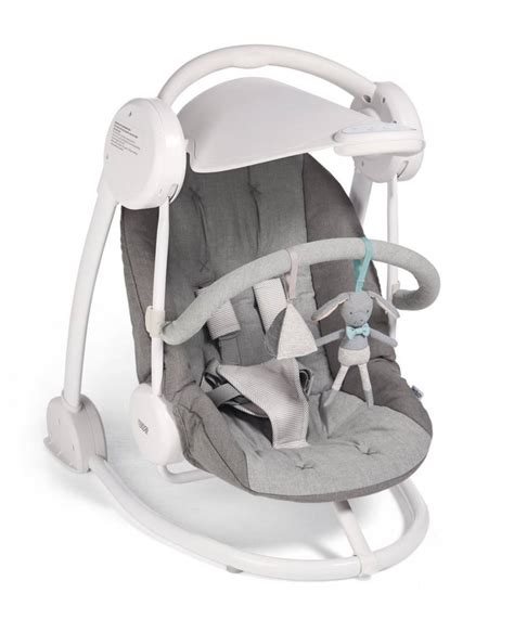mama and papas starlite swing starlite swing with adjustable canopy grey melange