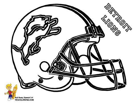 coloring pages detroit lions pro football helmet coloring page nfl football free