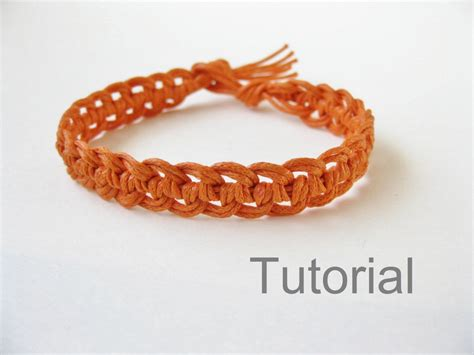 macrame bracelet macrame bracelet photo tutorial pattern pdf orange