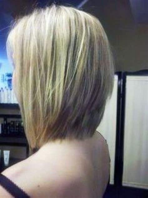 long layered stacked bob the back view of layered stack bob hairstyle will be