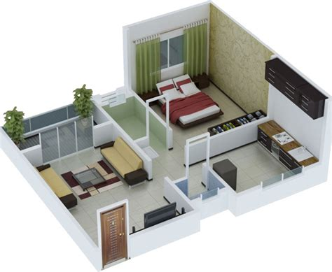 450 Sq Ft Apartment Design by Dreamz Sahodar By Dreamz Infra In Bannerghatta Road
