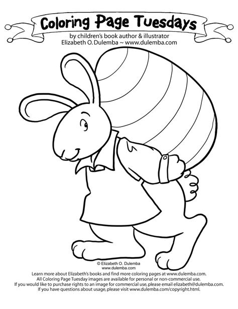 Coloring Page Tuesdays by Images Of Easter Bunnies Coloring Home