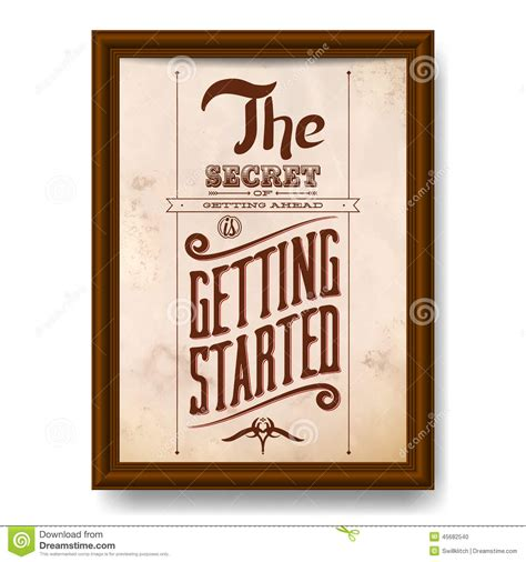 Wood Frame Poster Quotes Edition 05 vintage typographic motivational quote poster stock vector image 45682540