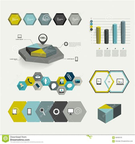infographic element layout set of infographic elements layout template stock vector