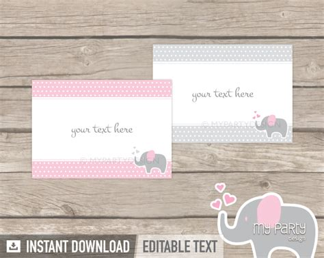 food labels for baby shower elephant baby shower printable food labels my