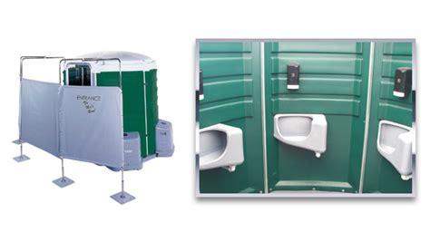 portable toilet for bedroom the men s room five single user urinals johns sanitation