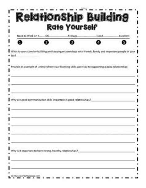 Relationship Skills Worksheets by Relationship Skills Worksheets