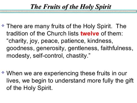 7 fruits of the holy spirit and their meanings gifts and fruits of the holy spirit