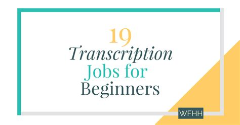 19 transcription for beginners work from