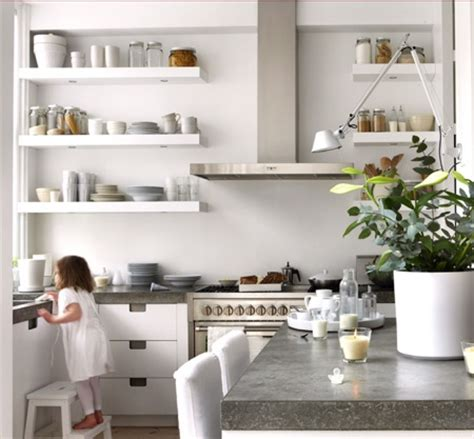 Open Shelf Kitchen Ideas | natural modern interiors open kitchen shelves ideas
