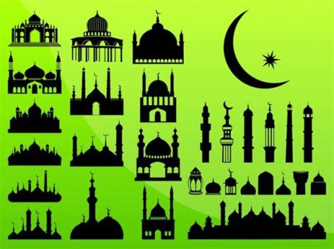 islamic pattern cdr mosques vector 1 free mosques graphics download