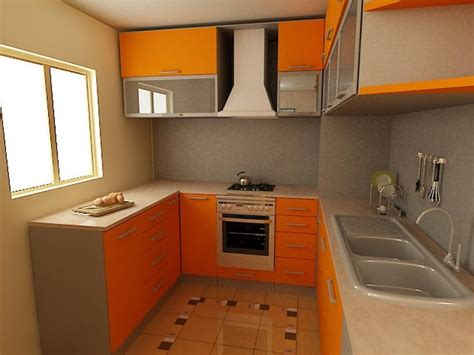 bloombety pictures of small kitchen orange paint color pictures of small kitchen for small house