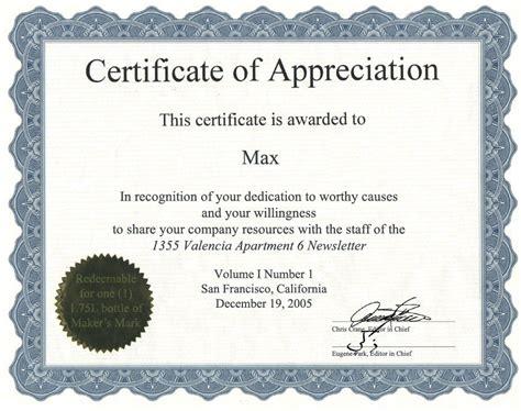Certificate Of Appreciation Template Publisher by Certificate Of Appreciation Template Word Template Ideas