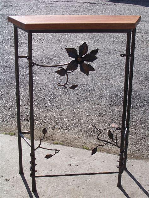 ladari in ferro battuto e legno consolle in ferro battuto e legno www coltellodelfabbro it
