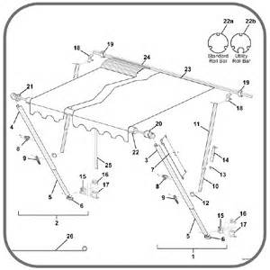 carefree awning parts breakdown awning carefree of colorado awning replacement parts