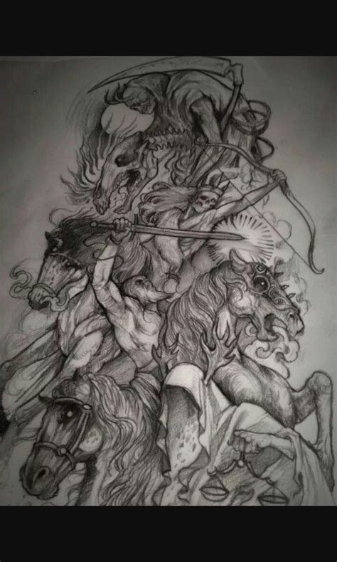 the four horsemen tattoo designs four horseman oddities and the macabre apocalypse