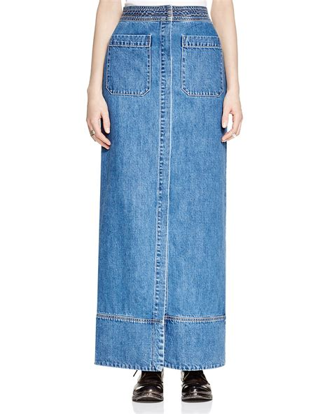 skirt on sale free just a denim maxi skirt bloomingdale s