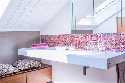 duschbad mit mosaik modern badezimmer frankfurt am axel fr 246 hlich gmbh - Badezimmer Mosaik Modern