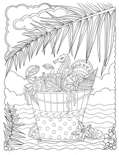 shells coloring book relax color adult coloring stress