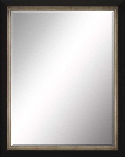 beveled mirror contemporary black and gray 30x40 - 30x40 Mirror