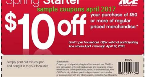 ace hardware november 2017 free printable coupons 2017 ace hardware coupons