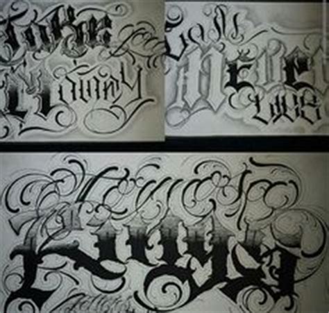 tutorial lettering chicano chicano lettering pinteres