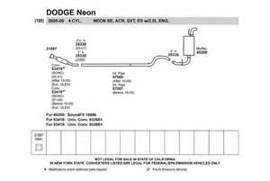 2001 Dodge Neon Parts Walker 174 18896 Dodge Neon 2001 Soundfx Direct Fit Muffler