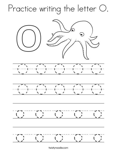 coloring pages for the letter o practice writing the letter o coloring page twisty noodle
