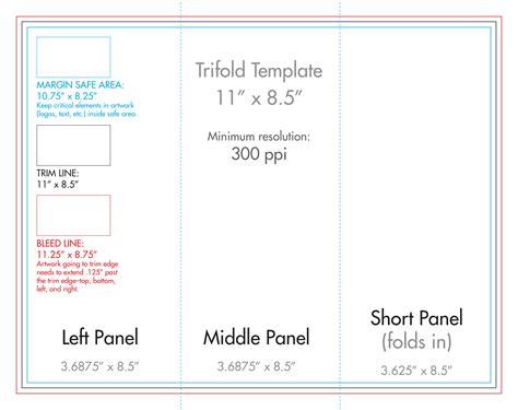 8 5 Quot X 11 Quot Tri Fold Brochure Template U S Press 8 5 X 11 Trifold Template