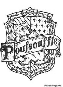 coloriage blason de poufsouffle harry potter dessin