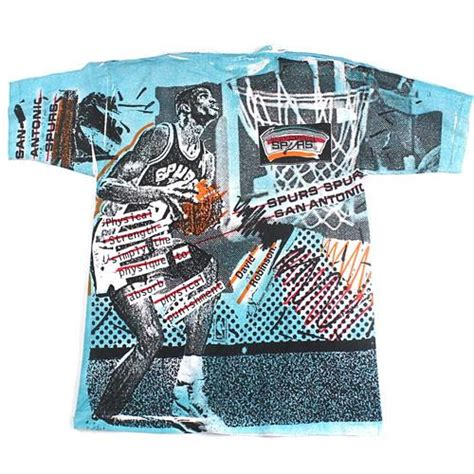 Tshirt Vintage David Robinson vintage 90 s david robinson magic johnson all print t