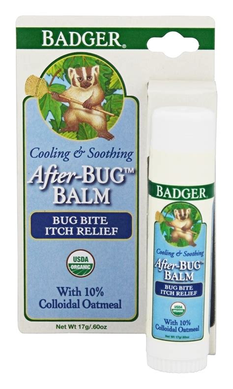 Badger After Bug Balm Bug Bite Itch Relief 17 Gr buy badger after bug balm itch relief stick 0 6 fl oz at luckyvitamin