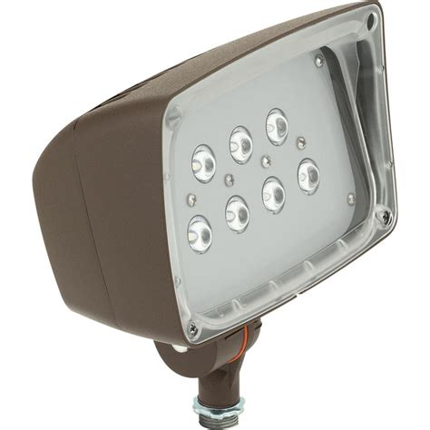 bronze outdoor flood light hton bay low voltage 50 watt equivalent black outdoor