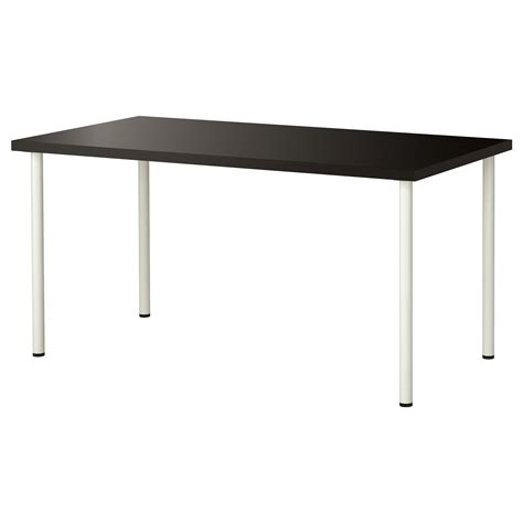 adils linnmon table black brown white 150x75 cm ikea