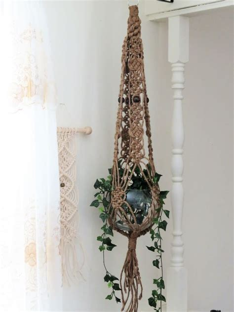 Macrame Hanging Planter Patterns - lace gifts and macrame on