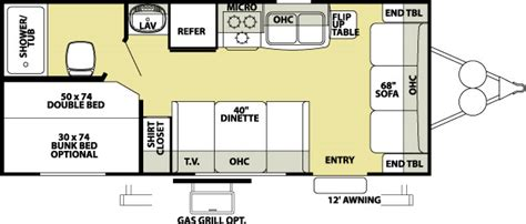 wildwood trailers floor plans wildwood travel trailers info on floor plans options