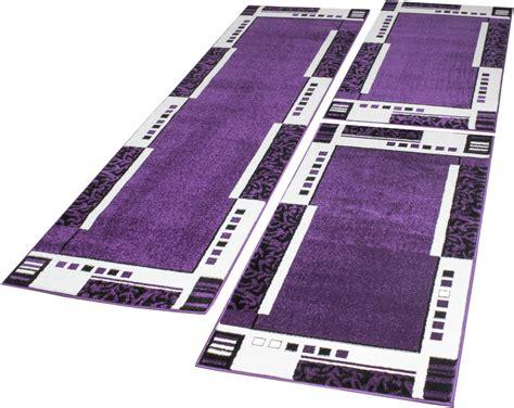 guide tappeti set tappeti guide motivo moderno 3 pz lilla panna